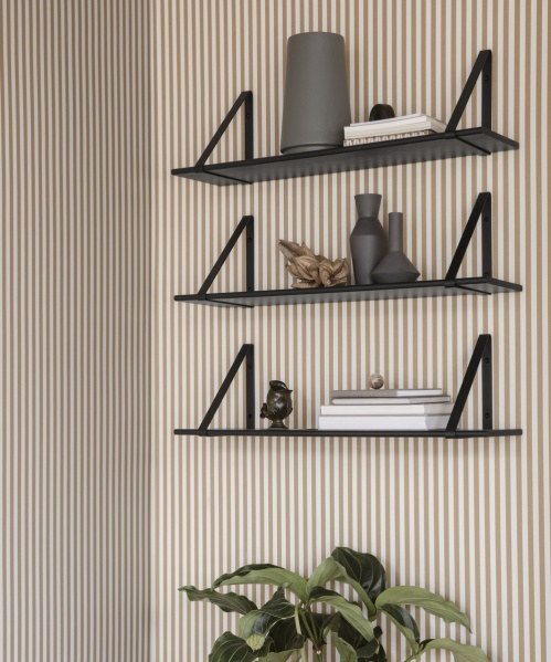 Metal hangers shelf