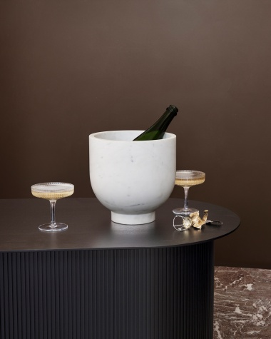 Ripple champagne saucers -...