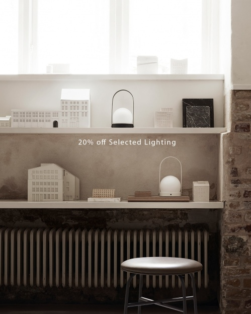 20% off selected lighting Menu